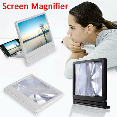 3D Movie HD Video Enlarge Smart Mobile Phone Screen Magnifier Amplifier Stand UK
