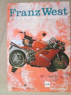 Franz West Affiche Bregenz 2003 Signed