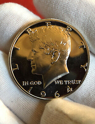 1964 Kennedy Gem Proof Silver Half Dollar From Proof Set In Airtite Capsule