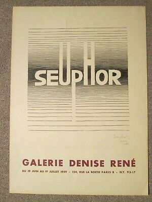 Michel Seuphor Affiche Signed 1959