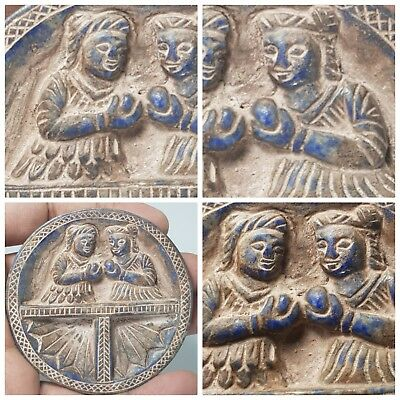 Amyzing Very old   the most rare ghandhara historical   lapiz  plate relief