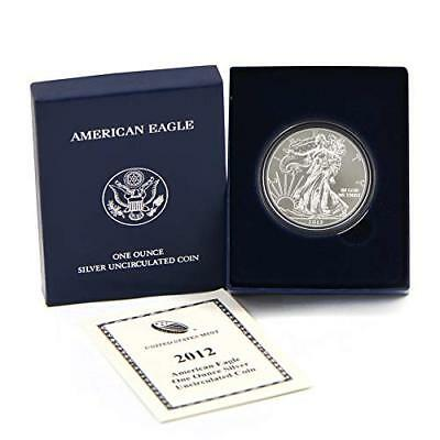 2012-W $1 Burnished American Silver Eagle 1 oz ASE Uncirculated in OGP & COA