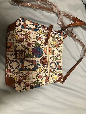 Disney Dooney Bourke Beauty The Beast Wristlet Wallet Nwt Great