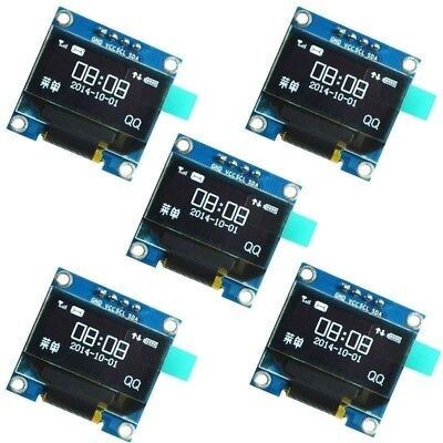 "5Pcs 0.9"" I2C IIC Serial 128X64 White OLED LCD LED Display SSD1306 for Arduino"