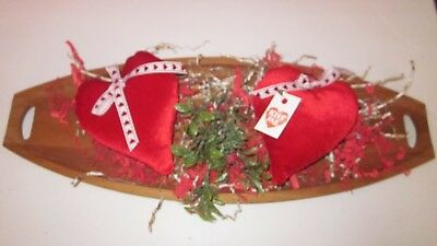 Valentine's Day Red Soft Set Of 2 Heart Bowl Fillers  Size 5.5 In    # 2