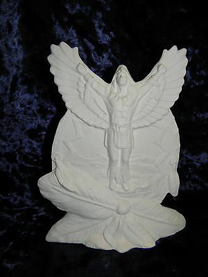 Ceramic Bisque Ready to Paint Eagle Dancer Shield