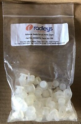 Radleys RR98076, Silicone Seals for all PTFE Caps, pk of 77