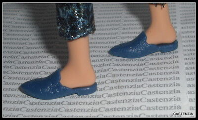 Shoes Barbie Doll  Iris Apfel  Blue Ornate Flats Accessory Clothing For Diorama