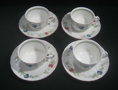 VILLEROY & BOCH  Germany  PERSIA Pattern  4- CUPS & SAUCERS SETS  Coffee Hot Tea