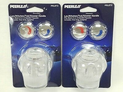 Peerless Kitchen Bath Sink Tub Shower Faucet Lot of 2 Handles Knobs PRL073 New