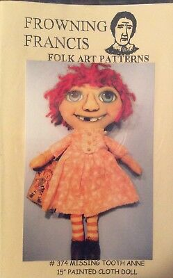 Cloth Doll Sewing Pattern 'Missin Tooth Anne' By Frowning Francis Pattens