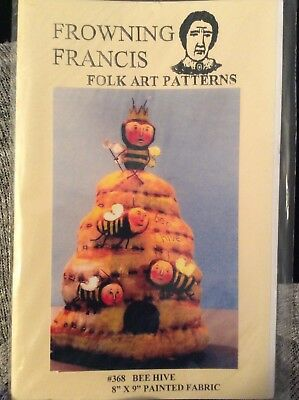 Cloth Doll Sewing Pattern 'Beehive' By Frowning Francis Folk Art Patterns