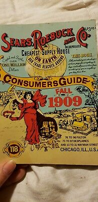 Sears roebuck and Co Consumers Guide Fall 1909 Reprint in 1979 Ventura Books