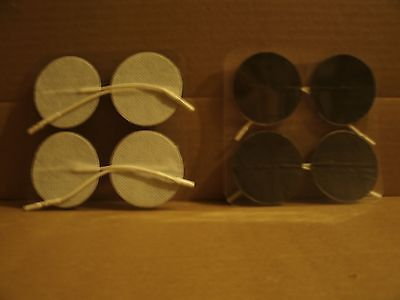 """(8) Tens Electrodes / Pads. 2"""" Inch Round With Standard.080"""" Female Connector."""
