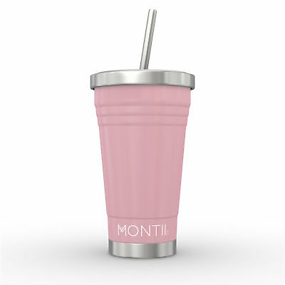 NEW MontiiCo Stainless Steel Smoothie Cup - Dusty Pink