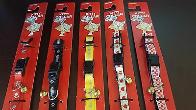 Cat Collar with bell Nylon adjustable breakaway Catnip Included