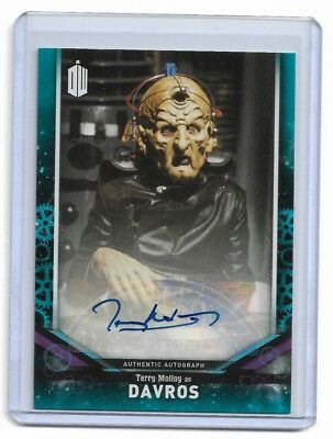 Terry Molloy As Davros 2018 Doctor Who Auto Autograph Blue /25 Qty