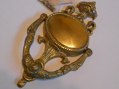 Vintage Fancy Italian Style Gold Tone Door Knocker Solid Brass Heavy Large 9 In