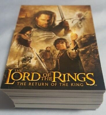 TOPPS 2004 LORD OF THE RINGS LoTR RETURN OF THE KING COMPLETE 72 CARD UPDATE SET
