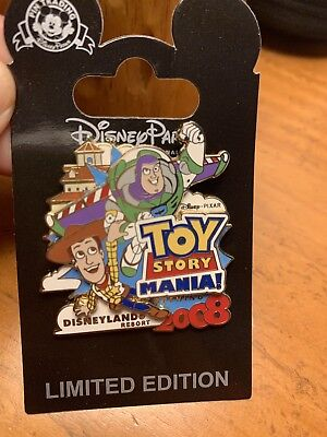 Disneyland Toy Story Woody & Buzz Lightyear Cast Member Exclusive LE Pins