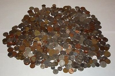 HUGE 725 Coin Lot from South America Almost 5 lbs of coins Chile Peru Argentina+