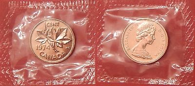 Proof Like 1974 Canada 1 Cent Sealed in Cello