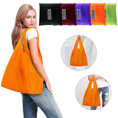 Foldable Eco Shopping Bag Fruit Vegetable Grocery Reusable Handbag Clip to Cart