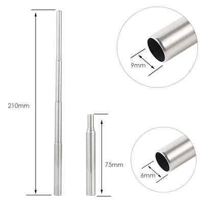 Portable Foldable Reusable Stainless Steel Drinking Straw for Outdoor Travel Kit