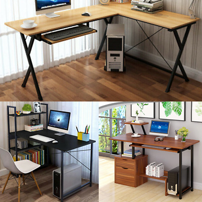 PC Study Computer Desk Home Office Writing Table Corner Laptop Workstation