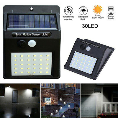 4X 30LED Solar Powered PIR Motion Sensor Wall Security Light,Garden Outdoor Lamp