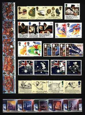 Gb Qeii Year 1988 Complete For Commemorative Sets, U/Mint, At Face