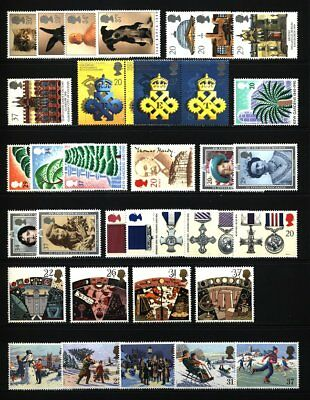 Gb Qeii Year 1990 Complete For Commemorative Sets, U/mint, At Face