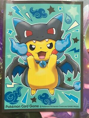 Sleeve poncho Pikachu Dracaufeu Charizard protege carte Pokémon deck shield card