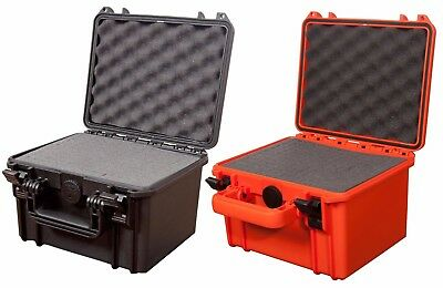 Waterproof Dustproof IP67 Rated Deep Small Hard Protective Camera Case + Foam!