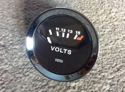 Smiths Volt Meter 52 mm Diameter . TRIUMPH , GT6 , TR6 , DOLOMITE Reconditioned
