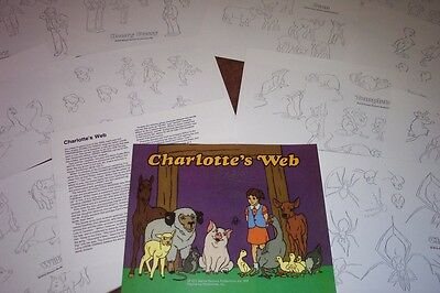 CHARLOTTE'S WEB ANIMATORS MODEL SHEETS HANNA BARBERA Movie Art Reference Guide