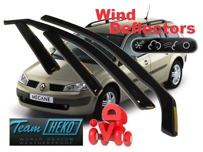 RENAULT MEGANE II ESTATE / WAGON 2002 - 2008 Wind deflectors 4.pc HEKO 27157