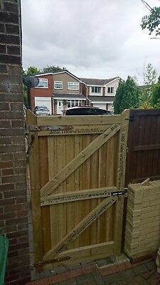 BESPOKE MADE TO MEASURE WOODEN GARDEN GATE / GATES  FEATHEREDGEHeavy duty