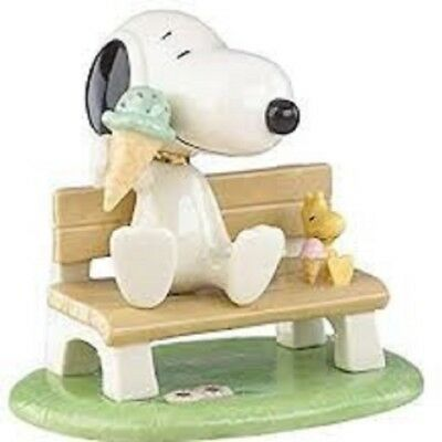 Lenox Peanuts Happiness is Ice Cream with Snoopy Woodstock New