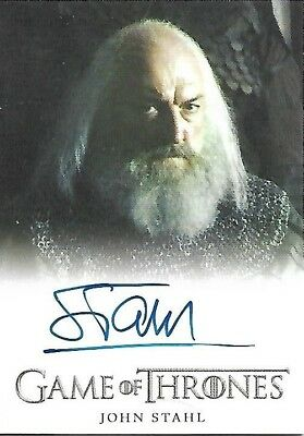 Game of Thrones Season 4 John Stahl as Rickard Karstark Autograph Card