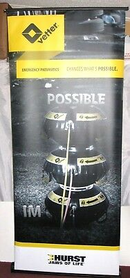 "Aluminum 35""x84"" Retractable Roll Up Banner Pop Up Trade Show DISPLAY STAND ONLY"