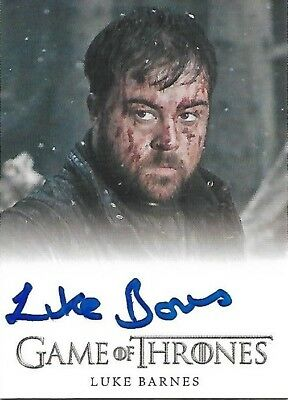 Game of Thrones Season 6 Luke Barnes as Rast Autograph Card