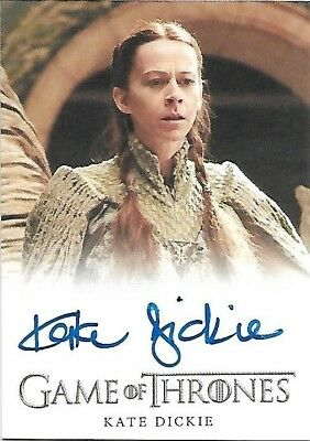 Game of Thrones Season 4 Kate Dickie as Lysa Arryn Autograph Card