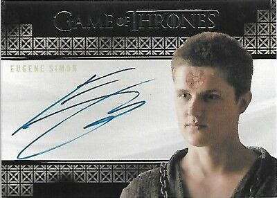 Game of Thrones Valyrian Steel Eugene Simon as Lancel Lannister Autograph Card