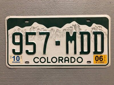 Colorado Rocky Mountains White License Plate Random Letters/Numbers