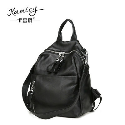 Kamicy top layer cowhide slant cross bag large capacity leather travel  backpack 85f2027d1d493
