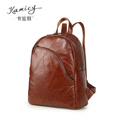 Kamicy leather shoulder bag large capacity first layer cowhide retro bag  Brown 30b1fa3030567