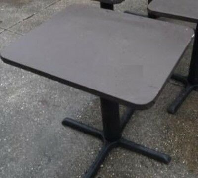 """Restaurant Equipment 29"""" STANDARD HEIGHT TABLE TOP WITH BASE 30"""" x 24"""" Brown Vin"""