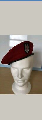 MILITARY BERET CAP HAT WW2 Era WHO DARES WINS BRITISH ARMY SAS COLLECTIBLE RARE