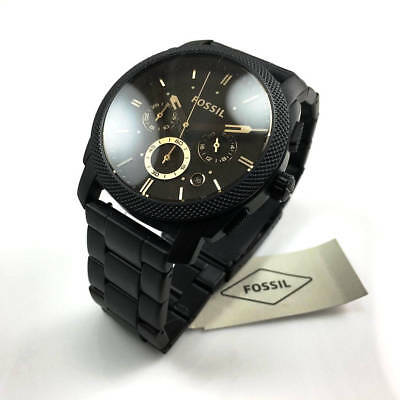 8a18b45e323 FOSSIL FS4682 MACHINE Mid Size Chronograph Black Stainless Steel ...